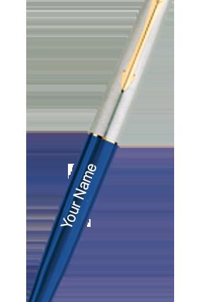 Parker Galaxy Std Gold Trim Roller Ball Pen (Blue Body)