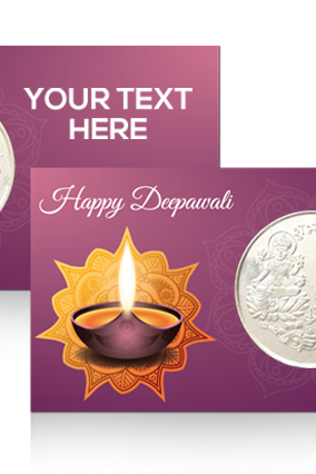 Customized Diya Silver Coin