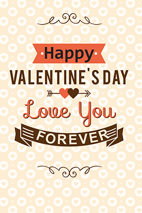 Customized Happy Valentine's Day Greeting Card