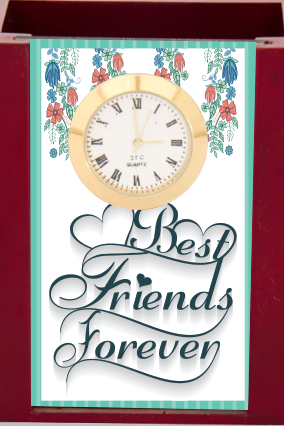 Best Friends Desk Stand Clock