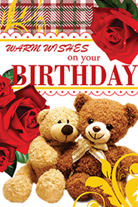 Warm Wishes Birthday Card