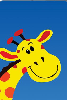 Smiley Giraffe Playing Cards