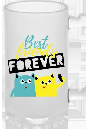 Best Friend Forever Frosted Beer Mug