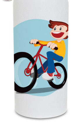 Cycling 600ml White Sipper