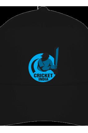 Cricket India Black Cap with Name