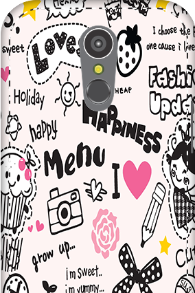 3D - LG K10 (2017) Happiness Menu Mobile Cover
