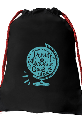 Just Go Black Gym Sack Bag