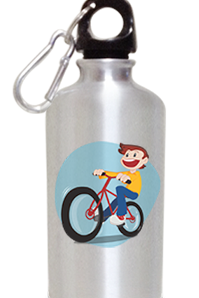 Cycling 400ml Silver Sipper