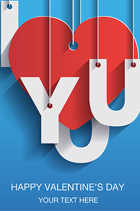 Love You Valentine's Day Greeting Card