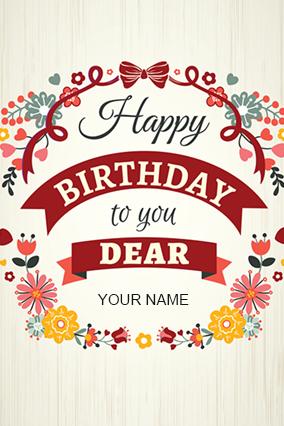 Personalized Happy Birthday Dear Greeting Card