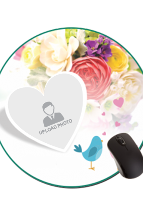 Bouquet of Love Round Mouse Pad