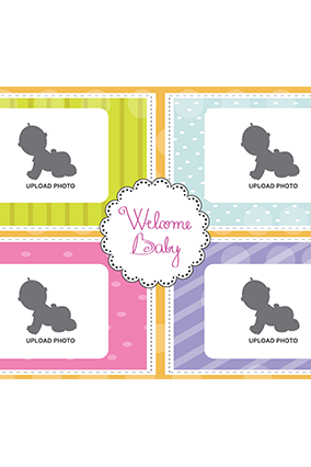 Cute Baby Landscape Collage