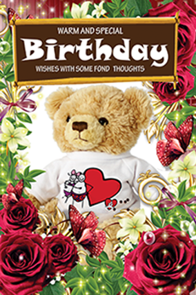Special Teddy Birthday Card