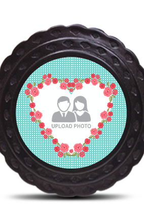 Flower Heart Table Wooden Photo Frame