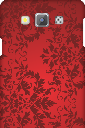 Premium Samsung Galaxy A7 Red Color Mobile Cover