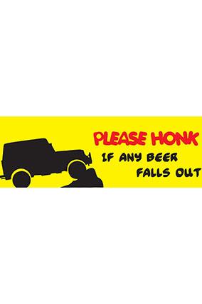 Please Honk Bumper Sticker