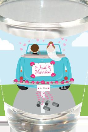 Newly Married Shot Glass