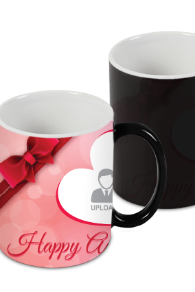 Married Happily Black Magic Mug