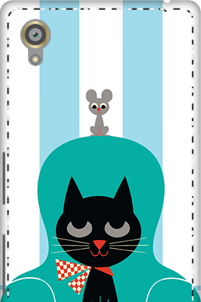 3D - Sony Xperia X Cat Mobile Cover