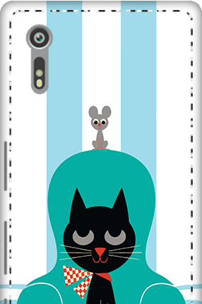 3D - Sony Xperia XZ Cat Mobile Cover