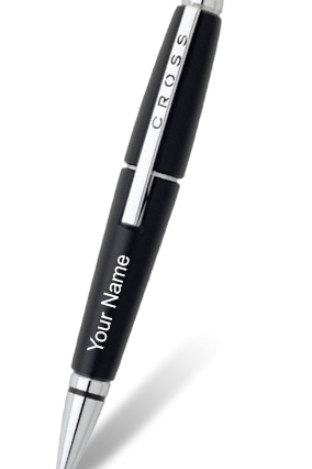 Cross AT0555-2 Edge Jet Black Roller Ball Pen