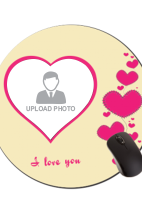 Love Bubbles Valentine Day Round Mouse Pad