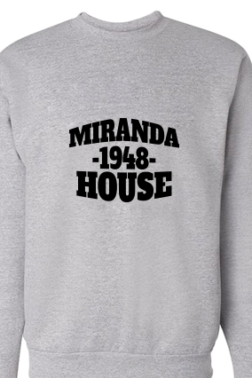 Awesome Miranda Black Print Gray Sweatshirt