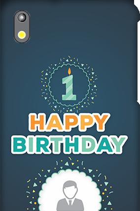Amazing HTC Desire 816G Happy Birthday Mobile Cover