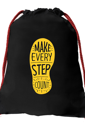 Make It Count Black Gym Sack Bag