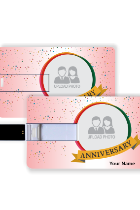 Anniversary Wishes Credit Card Pen Drive