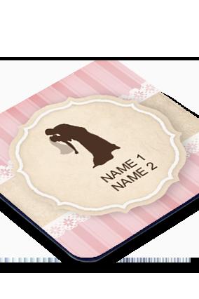 Kiss Of Love Square Printed Coaster