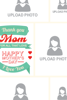 Thank You Mom Portrait Collage