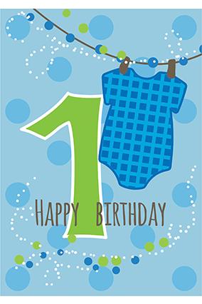 One Year Happy Birthday Namkaran Invitation Card