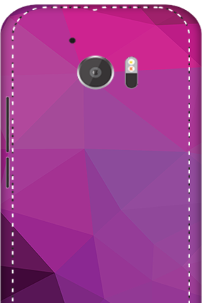3D - HTC M10 Purple Mobile Cover