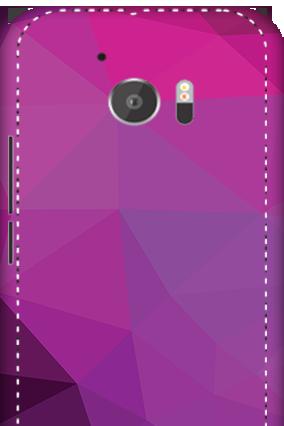3D - HTC M10 Purple Mobile Cover