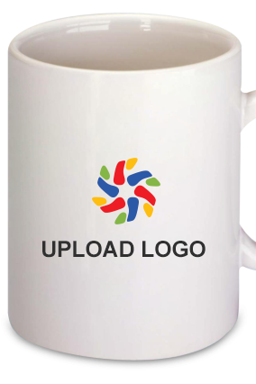 Upload Company Logo Bone China Mug