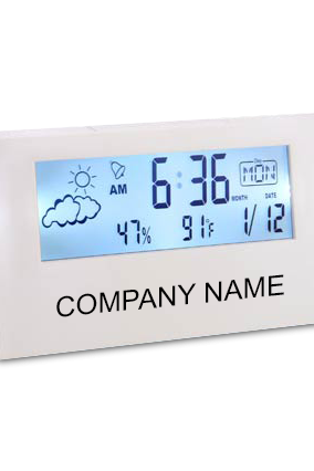 Custom Sharp Weather Station Clock With Back Light - A104