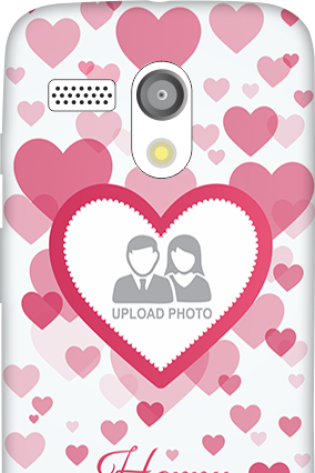 Moto G Floral Hearts Anniversary Mobile Cover