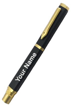 Black with Gold Fountain Pen-Fp-03