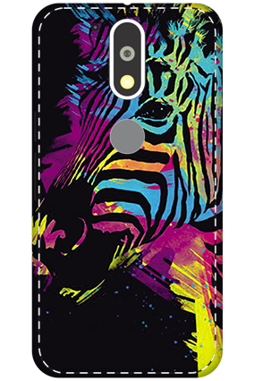 3D - Motorola Moto G4 Plus Colorful Zebra Mobile Covers