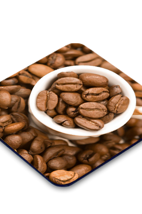 Coffee Beans Square Coaster
