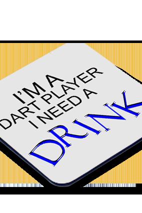 Dart Player Square Coaster