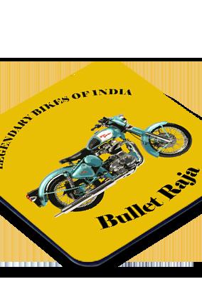 Bullet Raja Square Printed Coaster