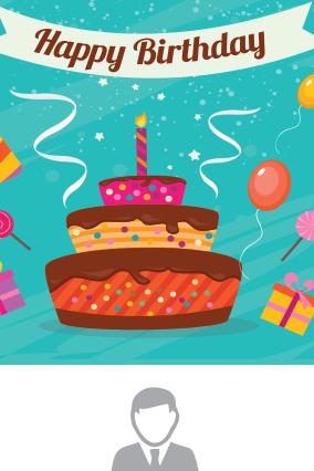 Birthday Cake Potrait Canvas Print