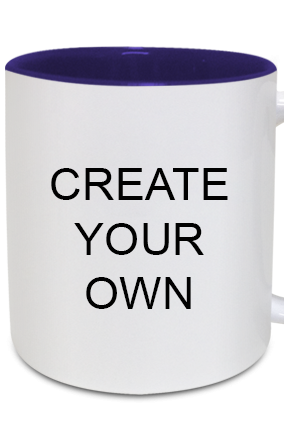 Create Your Own Inside Blue Mug