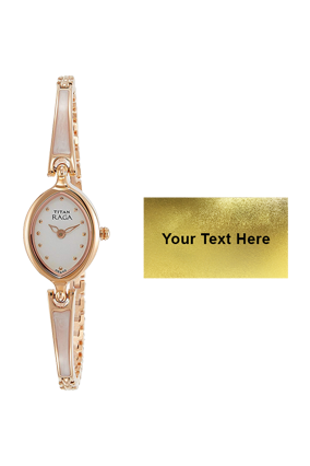 Titan Raga Champagne Dial Anlog Watch for Women