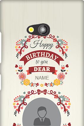 Nokia Lumia 730 Happy Birthday Dear Mobile Cover
