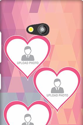 Nokia Lumia 730 3 Photos Heart Mobile Cover