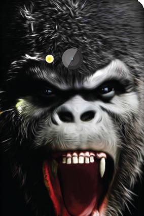 Amazing Microsoft Lumia 540 Gorilla Rises Mobile Cover
