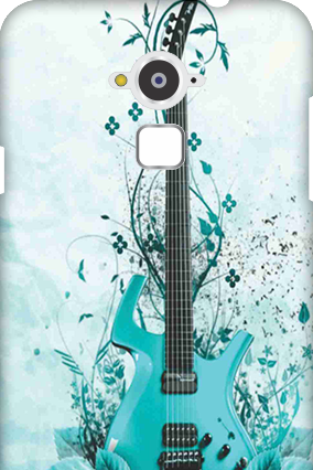 Personalized Silicon - Coolpad Note 3 Blue Guitar Mobile Cover